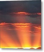 Mountain Rays Metal Print