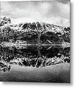 Mountain Reflection Metal Print by Dave Bowman