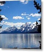 Mountain Reflection On Jenny Lake Metal Print by Dan Sproul