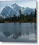 Mountain Reflection Metal Print