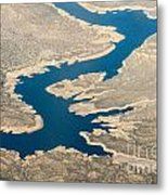 Mountain River From The Air Metal Print
