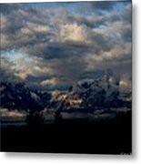 Mountain Silhouette Metal Print