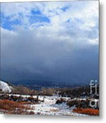 Mountain Snow Coming  Metal Print