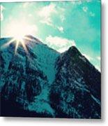 Mountain Starburst Metal Print