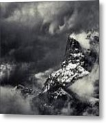 Mountain Storm Banff Metal Print