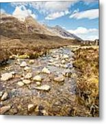 Mountain Stream From Beinn Eighe Metal Print