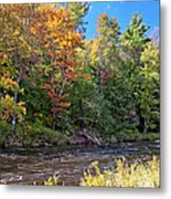 Mountain Stream In Early Autumn Metal Print