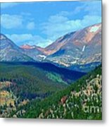 Mountain Top Color Metal Print