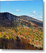 Mountain View From Linn Cove Viaduct Metal Print