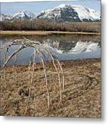 Aboriginal Sacred Sweat Lodge - Waterton Lakes Nat. Park, Alberta Metal Print