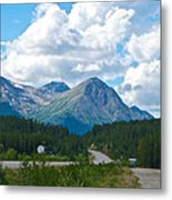 Mountains Along Cassiar Highway In Yt Metal Print