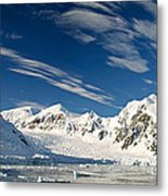 Mountains And Glaciers, Paradise Bay Metal Print