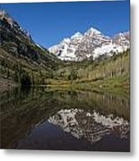 Mountains Co Maroon Bells 16 Metal Print
