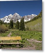 Mountains Co Maroon Bells 24 Metal Print
