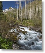 Mountains Co Maroon Creek 4 Metal Print