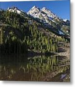 Mountains Co Pyramid 2 Metal Print