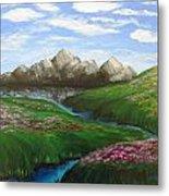 Mountains In Springtime Metal Print
