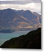 Mountains Meet Lake #4 Metal Print