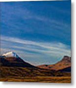 Mountains Of Assynt Panorama Metal Print