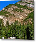 Mountains West Of Kicking Horse Campground In Yoho Np-bc Metal Print