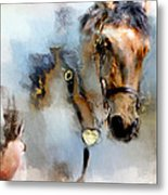 Mounted New York Sunday Metal Print