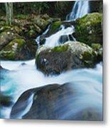 Mouse Creek Falls In Colour Metal Print