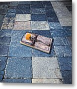 Mouse Trap With Cheese. Metal Print