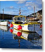 Mousehole Harbour Metal Print