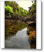 Mouth Of The Brook - Calm - Shallow Water Metal Print