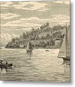 Mouth Of The Shrewsbury River 1872 Engraving Metal Print