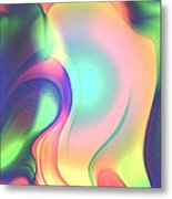 Movement Abstract Ink Digital Painting Metal Print