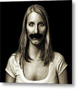 Movember Third Metal Print by Ashley King