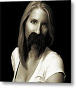 Movember Twentieth Metal Print by Ashley King
