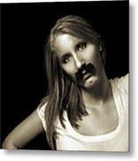 Movember Twentyfourth Metal Print by Ashley King