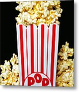 Movie Night Pop Corn Metal Print