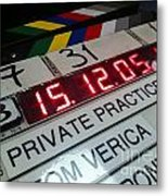 Movie Slate From Private Parctice Metal Print