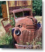 Moving Day In A Chevrolet Metal Print