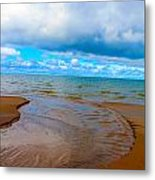 Moving Out On The Water Metal Print