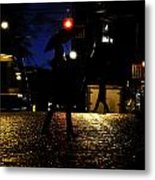 Moving Rain Metal Print