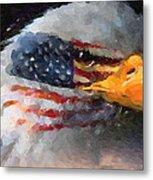 Mr. American Eagle Metal Print