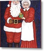 Mr And Mrs Claus Metal Print
