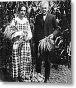 Mr. And Mrs. Luther Burbank Metal Print