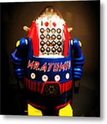 Mr. Atomic Tin Robot Metal Print