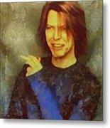Mr Bowie Metal Print