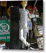 Mr Gas Pump Mechanic Metal Print by Kim Galluzzo Wozniak