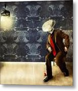 Mr Glitch 2 Metal Print