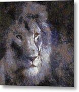 Mr Lion Photo Art 02 Metal Print