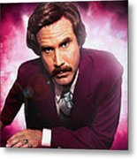 Mr. Ron Mr. Ron Burgundy From Anchorman Metal Print