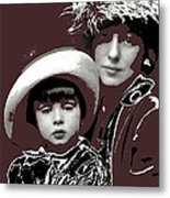 Mrs. Evelyn Nesbit Thaw And Son Arnold Genthe Photo New York 1913-2014 Metal Print