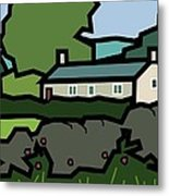 Mrs Hartly's Cottage Metal Print by Kenneth North